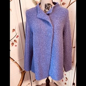 Purple Sweater Jacket Size M by Designers Original